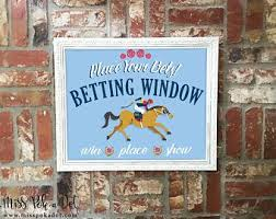 The betting window